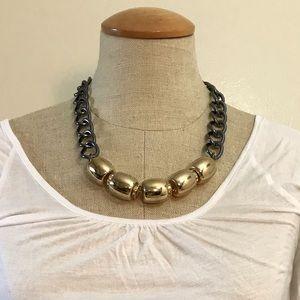 Gold & Gunmetal Necklace